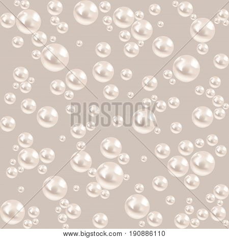 Seamless pearl background. luxury gray pattern. vector illustration