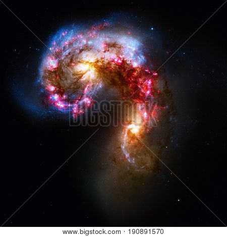 Antennae Galaxies Are A Galaxies In The Constellation Corvus.