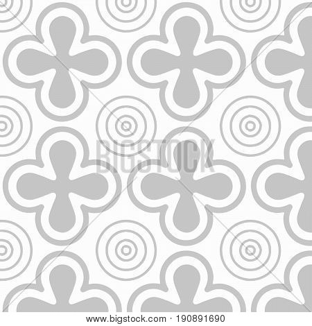 Pattern with аbstract images in grey colors