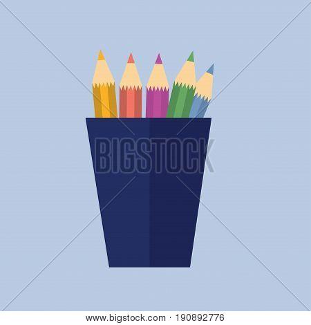 Vectro Illustration. Pencils In A Pencil Holder