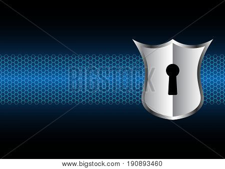 Technology Digital Future Abstract Cyber Security Keyhole Lock Shield Background