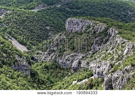 The Ucka mountains in Istria in Croatia.