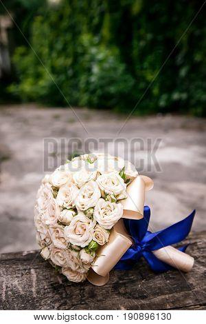 Wedding bouquet. Bride's flowers, Festive bouquet of the bride, rose