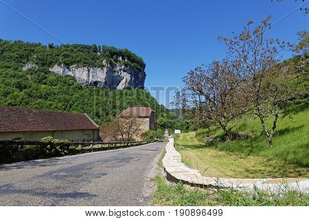 The Village Of Baume-les-messieurs Lies Within The Most Extensive Of The Steephead Valleys Of The Ju