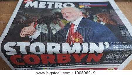 Newspapers Showing Jeremy Corbyn