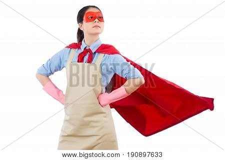 Confidence Superhero Housewife Looking Away