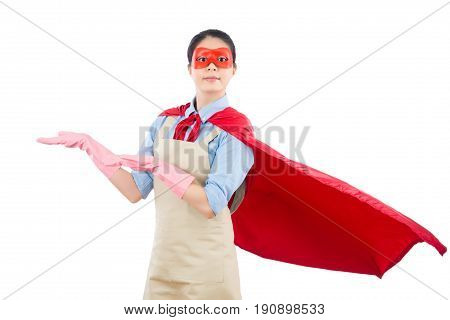 Super Woman Hero Showing Presenting