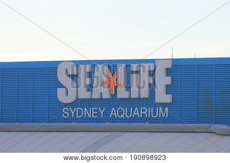 SYDNEY AUSTRALIA - MAY 30, 2017: Sea Life aquarium. Sea Life aquarium is one of the most popular tourist attractions in Sydney.