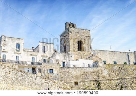 Medieval Castle And Walls In Otranto, Italy