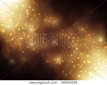 Gold glitter dust background, Vector texture, EPS10