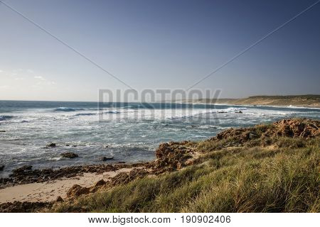 Western Australia - rough costline with blue sky
