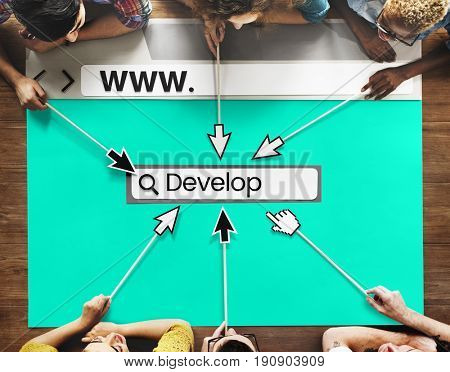 Website Develop Design Template Content Graphic Word