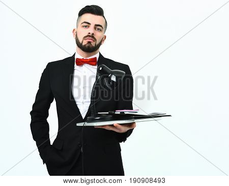 Stylish Corporate Businessman With Confident And Arrogant Face Expression