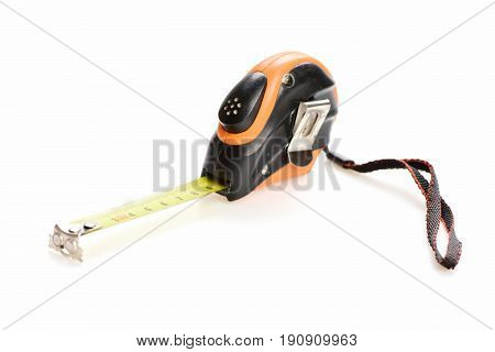 Tape Measure Of Plastic And Metal With Belt Clip