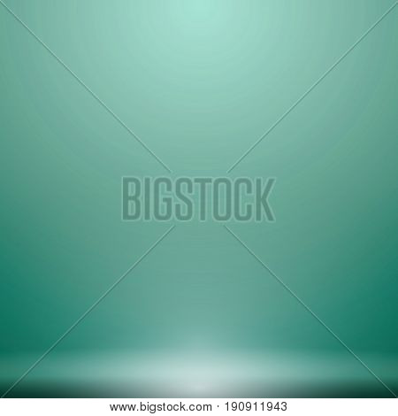 Abstract luxury green gradient with lighting background Studio backdrop well use as black backdrop Vector Illustration.
