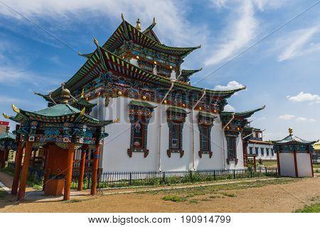 Ivolginsky datsan the center of Buddhism in Russia.