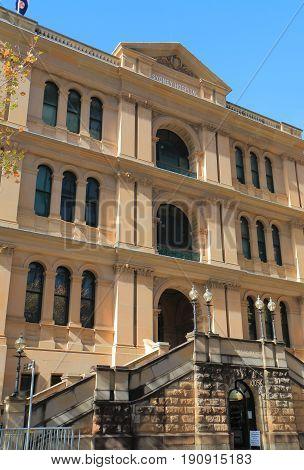 SYDNEY AUSTRALIA - MAY 31, 2017: Sydney hospital. Sydney hospital s the oldest hospital in Australia dating back to 1789