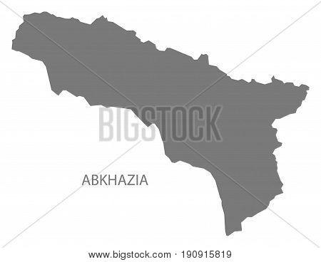 Abkhazia map grey illustration silhouette shape Georgia