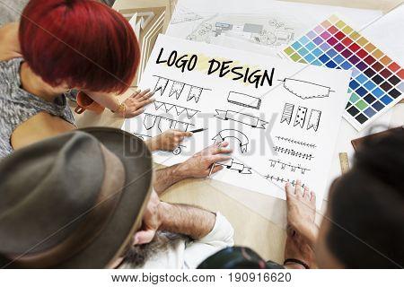 Minimalistic Creative Logo Label Product Trademark Design