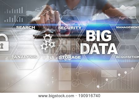 Big data. Business technology and internet concept.