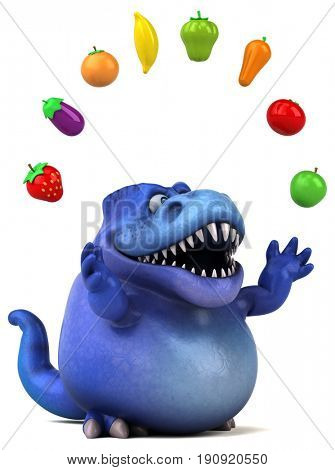 Fun dinosaur - 3D Illustration