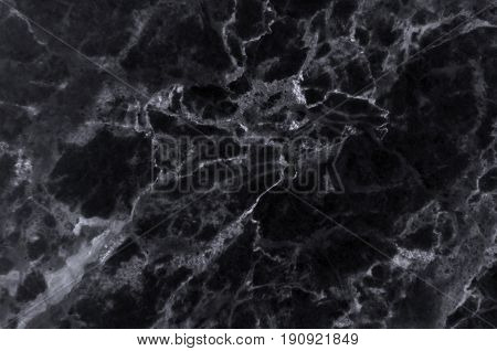 Black marble texture shot through with subtle white veining (Natural pattern for backdrop or background, Can also be used create surface effect to architectural slab, ceramic floor and wall tiles)