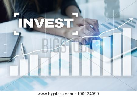 Invest Return on investment. Financial growth. Technology and business concept.