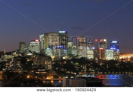 North Sydney downtown cityscape in Sydney Australia