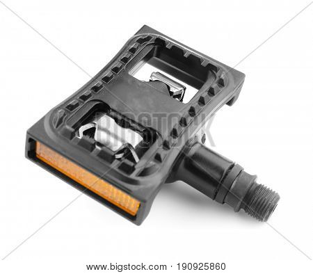 Bicycle pedal on white background