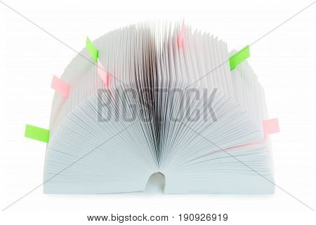 The big organizer with color bookmarks Isolated on white background