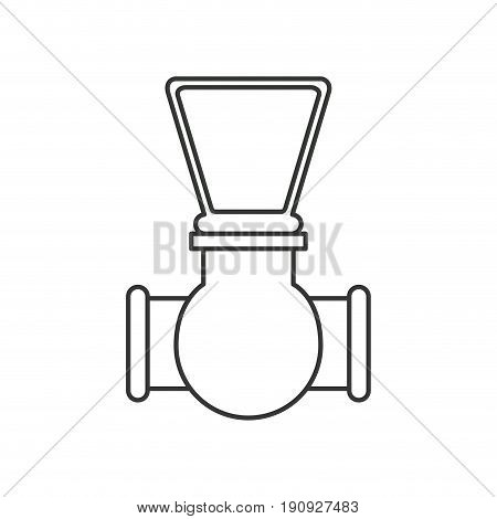 monochrome silhouette of stopcock icon vector illustration