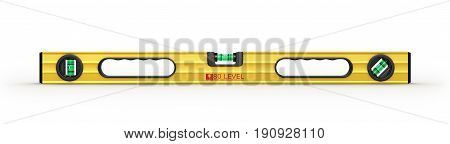 Yellow building level isolated on a white background. 3d illustraton