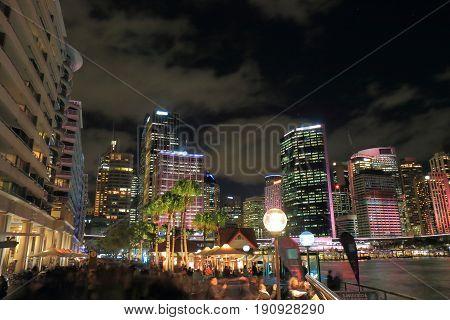 Circular Quay downtown cityscape in Sydney Australia