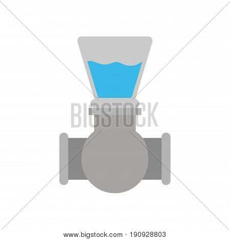 white background with color silhouette of stopcock icon vector illustration