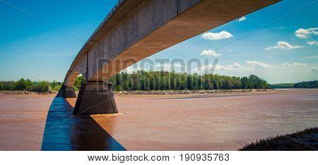Bridge over the muddy river in nova scotia