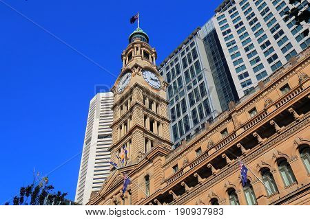 Historical architecture of GPO building in Sydney Australia