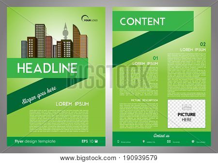 Vector Flyer, Corporate Business, Annual Report, Brochure Design And Cover Presentation With Ribbon