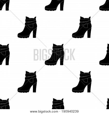 High women red shoes for everyday wear .Different shoes single icon in black pattern vector symbol stock web illustration.