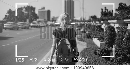 Woman Camera Capture Snap Shot Banner