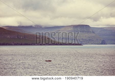 Northern landscape of the Faroe islands