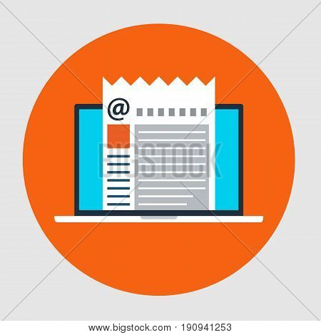 Flat style icon of Email Marketing concept. Vector illustration