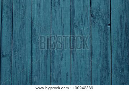 Blue wooden texture for background usage. Texture of deep blue wooden fence.