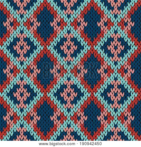 Knitting Variegated Seamless Pattern