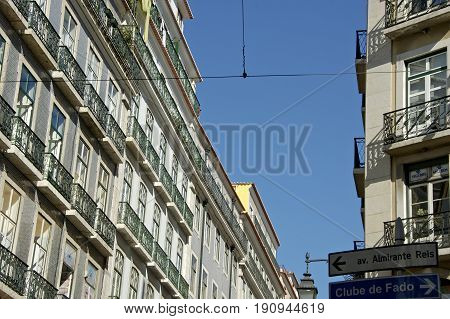 Lisbao, Portugal, 27-September-2007: Appartments in the center of Lisbao