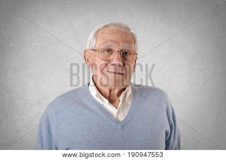 Serene elderly man