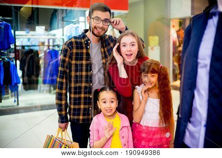 A portrait of a father astonished with high price