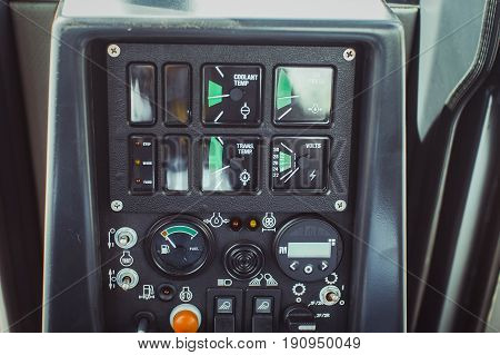 Detailing of the new driver's cab excavator