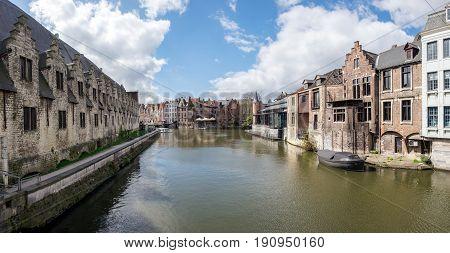View from Kleine Vismarkt bridge, Gent, Belgium