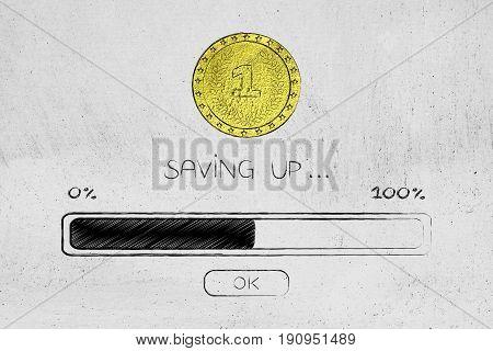 Coin And Progress Bar Loading, Saving Process