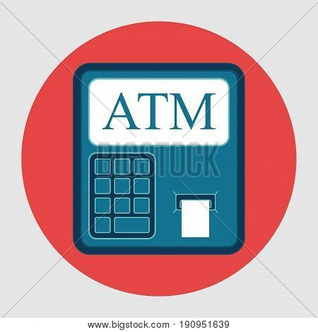 Icon ATM withdrawals from card flat design financial capacity vector image